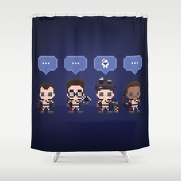 The Choice is Made Shower Curtain
