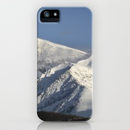 Hight snowy mountains. 3489 meters iPhone Case