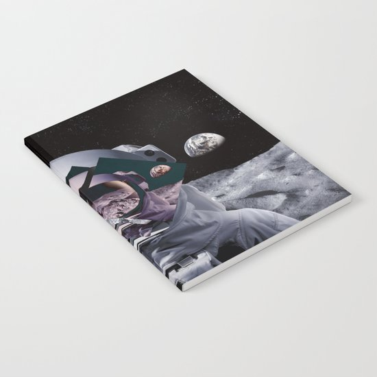 Spaceman oh spaceman, come rescue me (teal) Notebook