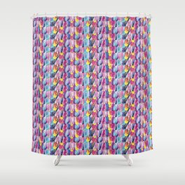 Brushstroke Fortunes I (Abstract Painting) Shower Curtain
