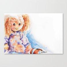 Raggedy Rosie ... Rag Doll Canvas Print