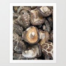mushrooooms  Art Print
