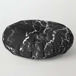 Faux Black Marble Texture With White Veins (NOTICE: Not Real Marble) Floor Pillow