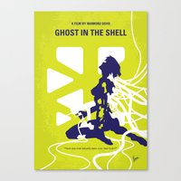 ghost in the shell Canvas Prints featuring No366 My Ghost in the Shell minimal movie poster by Chungkong