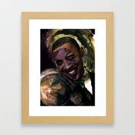 Obama for president Framed Art Print
