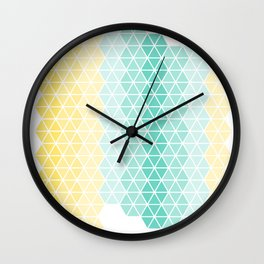 Abstract geometric ombre hexagons Wall Clock