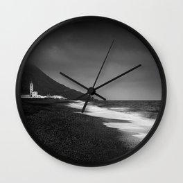 Salinas beach. BW Wall Clock