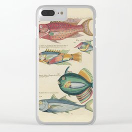 Vintage Fish Illustration V Clear iPhone Case