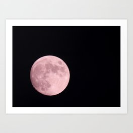 Did You See The Moon Last Night? #moon #photography Art Print