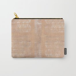 Coral Geometric Panel Carry-All Pouch