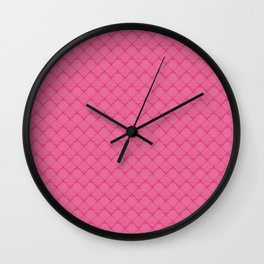 A bright pink geometric pattern 2 Wall Clock