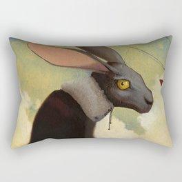 Melancholic rabbit Rectangular Pillow