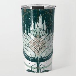 White Dahlia Travel Mug