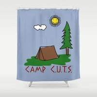 camp Shower Curtains featuring Camp C.U.T.S. by Isaboa