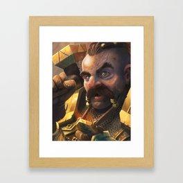 Cleric Dwarf Framed Art Print