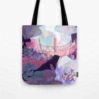 bridge Tote Bags featuring Bridge by sarlisart