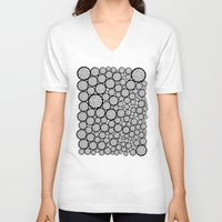trees V-neck T-shirts featuring Blooming Trees by Pom Graphic Design