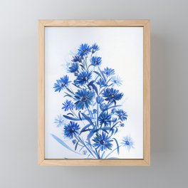 blue aster Framed Mini Art Print