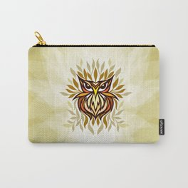 Staring Owl - Creative Tribal Style Mirror Graphic of Bird Carry-All Pouch