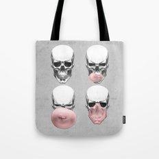 Skulls chewing bubblegum Tote Bag