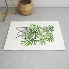 Potted Philodendron Plant Rug