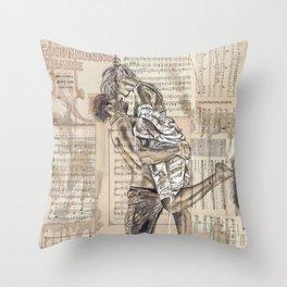 Good Morning Dearie Throw Pillow