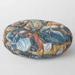 African American Masterpiece 54th Black Reg Sergeant Carney & Death of General Carney by H. Woodruff Floor Pillow