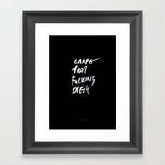 CARPE / brush test version Framed Art Print