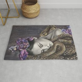 Watercolor Snake Art Rug