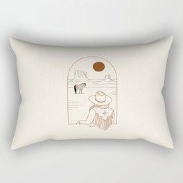 Lost Pony - Rustic Rectangular Pillow
