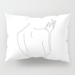 Nude figure line drawing illustration - Thelma Pillow Sham