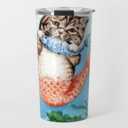 Cute Purrmaid Cat Mermaid Travel Mug