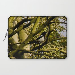 Magpie resting in a tree Laptop Sleeve