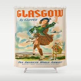 Vintage poster - Glasgow Shower Curtain