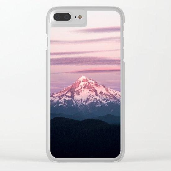 Mount Hood XI Clear iPhone Case