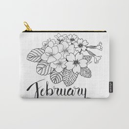 February Birth Flowers Carry-All Pouch