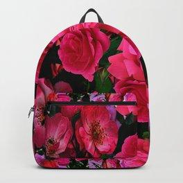 GARDEN ART OF FUCHSIA PINK ROSES Backpack