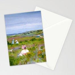 12,000pixel-500dpi - William Merritt Chase - Landscape, Shinnecock, Long Island - Digital Remaster Stationery Cards