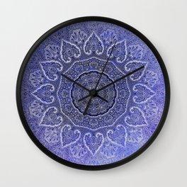 purple mandala of hearts Wall Clock