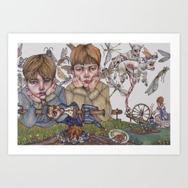 Rumplestiltskin, This Little Lamb Chop Art Print