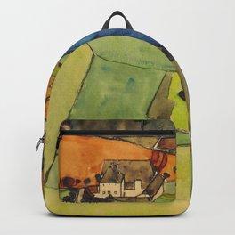 "Egon Schiele ""Stadt am blauen Fluss (Town on the blue river)"" Backpack"