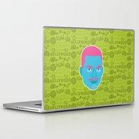 fresh prince Laptop & iPad Skins featuring Carlton - The fresh prince of Bel-Air by Kuki