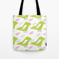 dragons Tote Bags featuring Dragons by LOLIA-LOVA