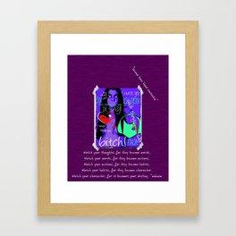 Lacuna have Haud Sententia Framed Art Print