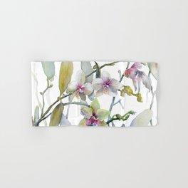 White and Pink Magnolias, Goldfish hiding, Surreal Hand & Bath Towel