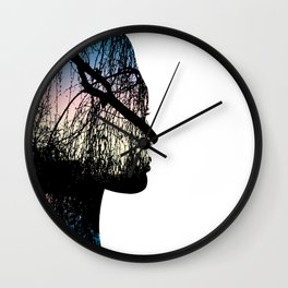 Lady in the Woods pt. 2 Wall Clock
