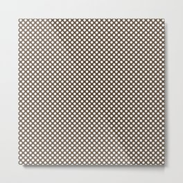 Desert Palm and White Polka Dots Metal Print