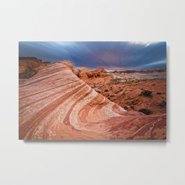 THE FIRE WAVE VALLEY OF FIRE NEVADA Metal Print