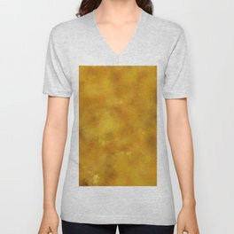 Yellow orange batic look. Unisex V-Neck