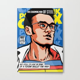 Post-Punk Comix: Moz Metal Print